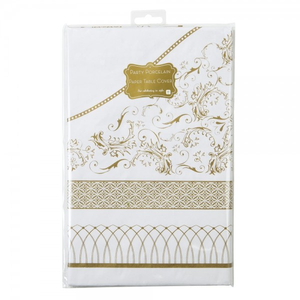 nappe jetable or party porcelain vintage gold table de no l creative emotions. Black Bedroom Furniture Sets. Home Design Ideas