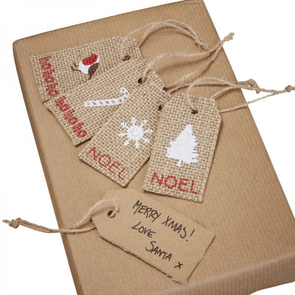 8 tiquettes kraft pour cadeau noel assiettes jetables - Cadeau a fabriquer pour noel ...