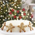 "Mini banderole deco gateau Noel ""Merry Christmas"""