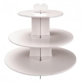 Présentoir à gâteau blanc 3 étages
