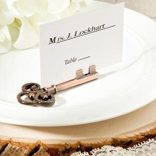 Clé Vintage Marque Place Porte Nom Table Mariage Mariage Vintage - Porte nom mariage