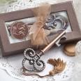 Décapsuleur clé retro vintage bronze cadeau