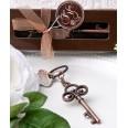 Charmant porte clés clé vintage bronze mariage vintage
