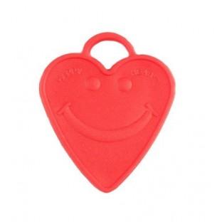 Le poids pour ballons coeur rouge smiley (90gr)