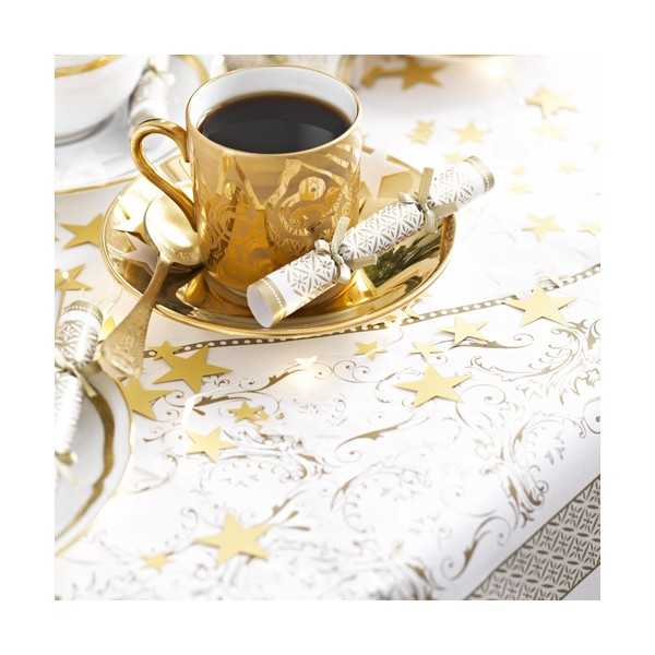nappe carr e dor e tea party vintage gold table de. Black Bedroom Furniture Sets. Home Design Ideas
