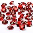 Perles Diamant de table rouge 12mm confettis