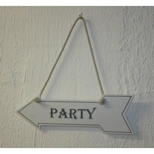 """Panneau directionnel mariage flèche """"Party"""""""