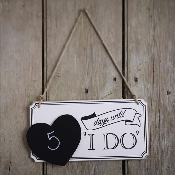 Plaque ardoise compte rebours mariage signal tique mariage creative emotions - Compte a rebours mariage ...