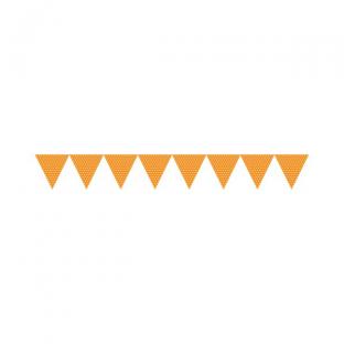 Banderole fanions pois orange