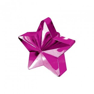 Poids pour ballons étoile rose vif fuchsia