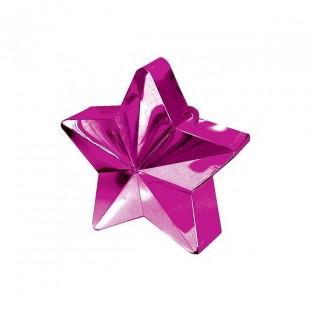 Poids pour ballons étoile rose vif
