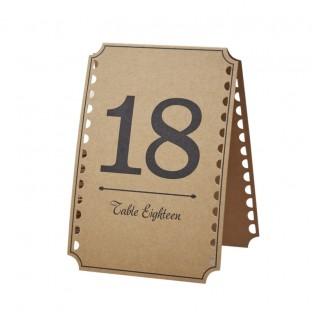 Numéros de table vintage kraft 13 - 24
