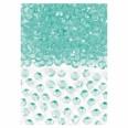 Confettis perles diamant vert menthe pastel 6mm