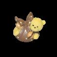 Figurine ourson brun - sujet baptême