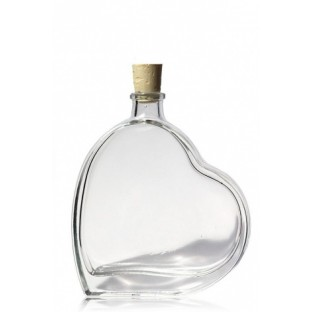 mignonnette fiole en verre forme coeur 50ml - Mignonette Mariage