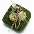 Coussin pour alliance mousse fleur artificelle