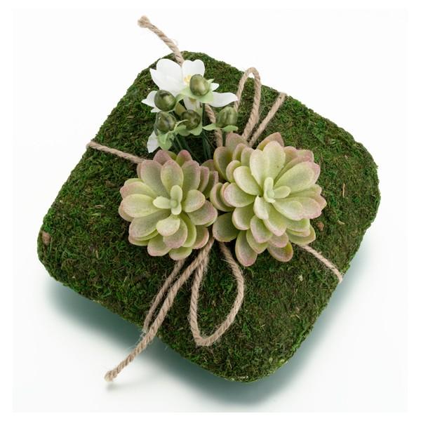 coussin pour alliance mousse fleur artificelle coussins. Black Bedroom Furniture Sets. Home Design Ideas
