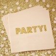 20 serviettes rose party or