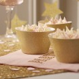 10 caissettes à cupcakes or glitter