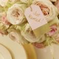10 étiquettes tag rose pastel et doré glitter