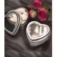 Boîtes à dragées coeur en metal DIY