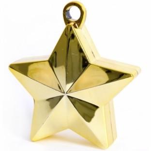 Poids pour ballons étoile or brillant