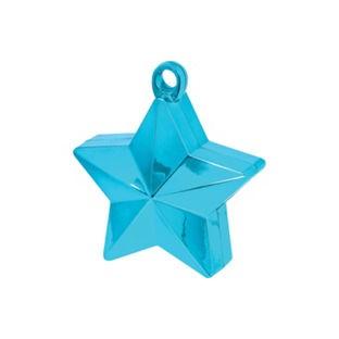 Poids pour ballons étoile turquoise