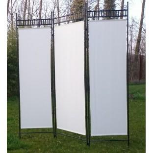 location paravent en fer forge et toile location deco. Black Bedroom Furniture Sets. Home Design Ideas
