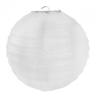 1 lanterne chinoise en papier blanc 30cm