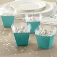 Robins Egg Blue Scallop Favour Boxes (100pk)