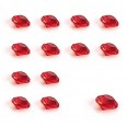 Confettis perles rondes diamant rouge ruby 6mm