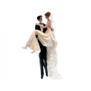 Grande figurine de mariés H25cm