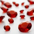 Perles Diamant de table ROUGE (6-12mm)