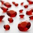 Perles Diamant de table ROUGE (6-12mm)