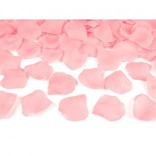 500 pétales de rose en tissu rose