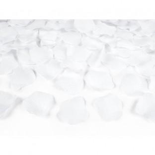 100 pétales de rose en tissu, blanc