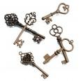 24 clés vintage bronze style ancien