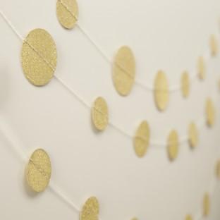 Guirlande confettis gold glitter party paillettes 5M
