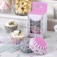 100 caissette à cupcakes vintage fleurettes