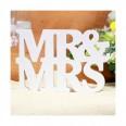Location lettres en bois Mr & Mrs blanc