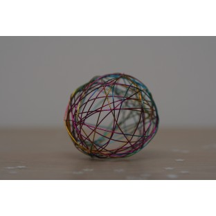 Boule deco métal multicolore 5 cm (x4)