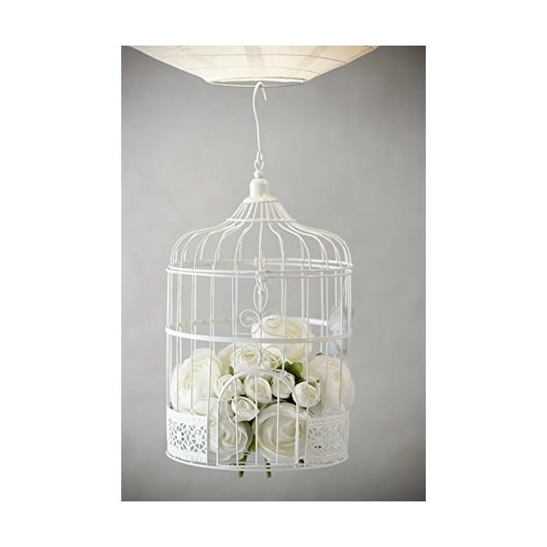 Location cage oiseau d corative blanc metal c r monie - Cage oiseau decorative interieur ...