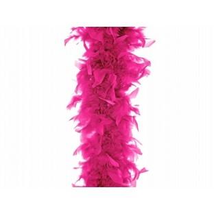 Boa en plumes rose vif