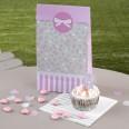 5 pochettes cadeau shabby fleurettes DIY