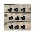 """10 étiquette """"tags"""" marque place coeur ardoise"""