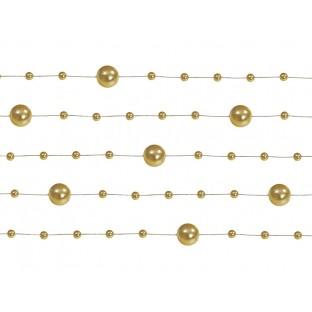 5 guirlandes de perles or doré gold 1M30
