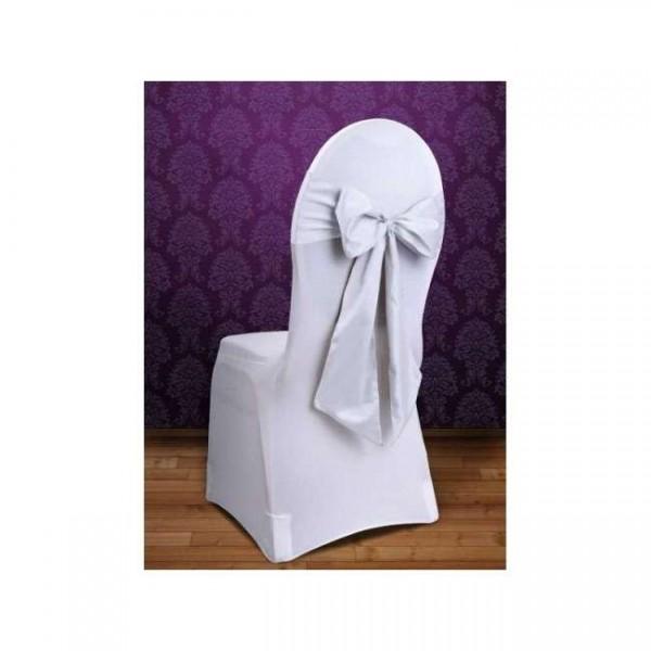 10 noeuds de chaise mariage tissu satin blanc housses et - Noeuds de chaise mariage ...