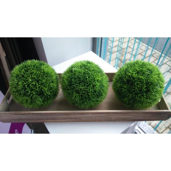 location 3 boules d coratives herbe gazon centre de table creative emotions. Black Bedroom Furniture Sets. Home Design Ideas