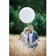 3 ballons ronds géants blancs 90 cm