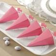 50 boîtes cone à dragées rose bébé